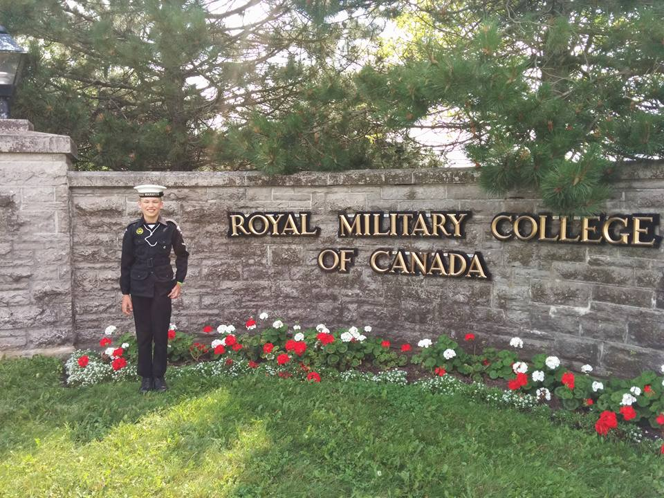 RCSCC Warspite cadet at HMCS Ontario in Royal Military College