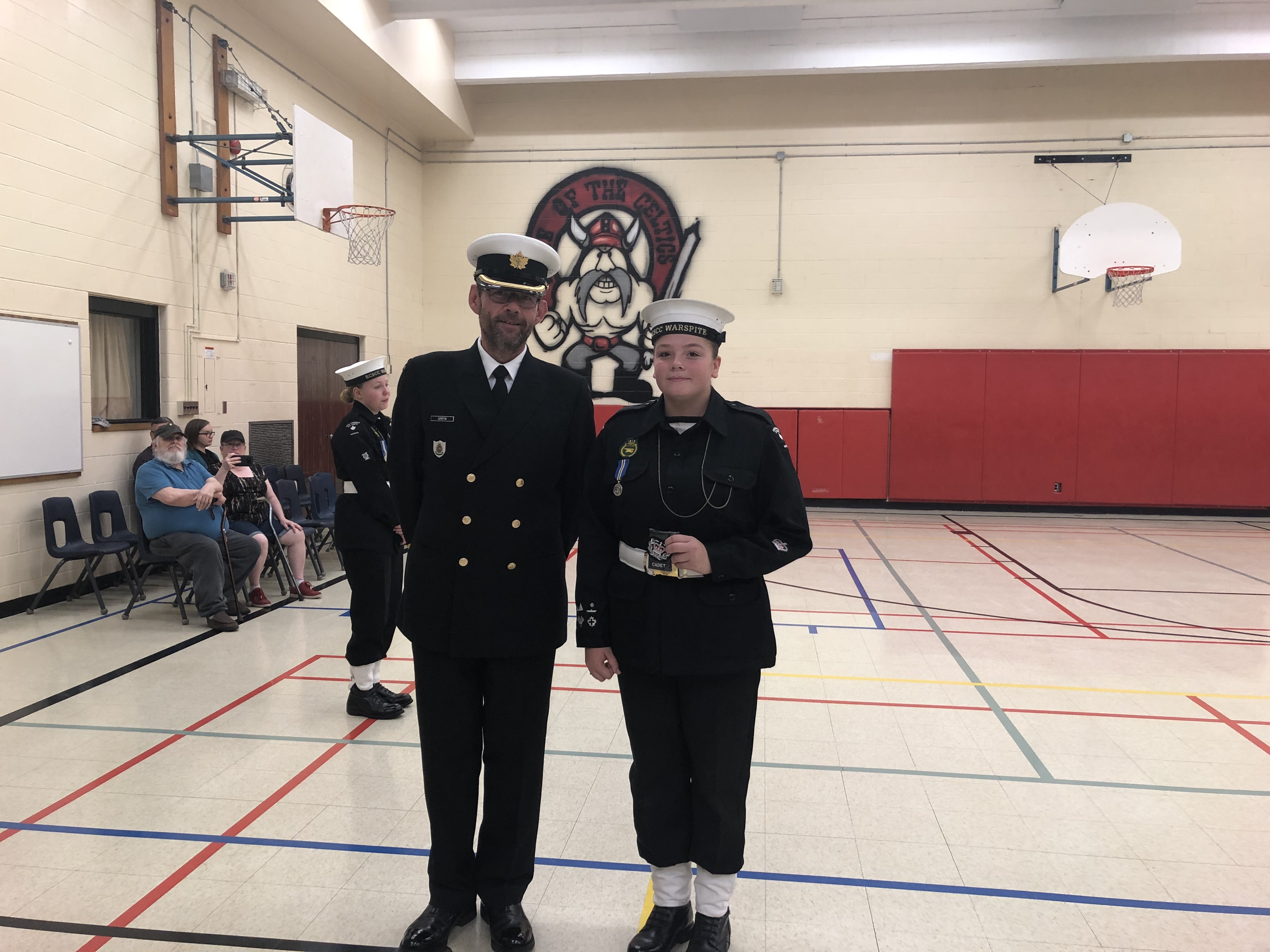 PO1 Weldon getting promoted to CPO2