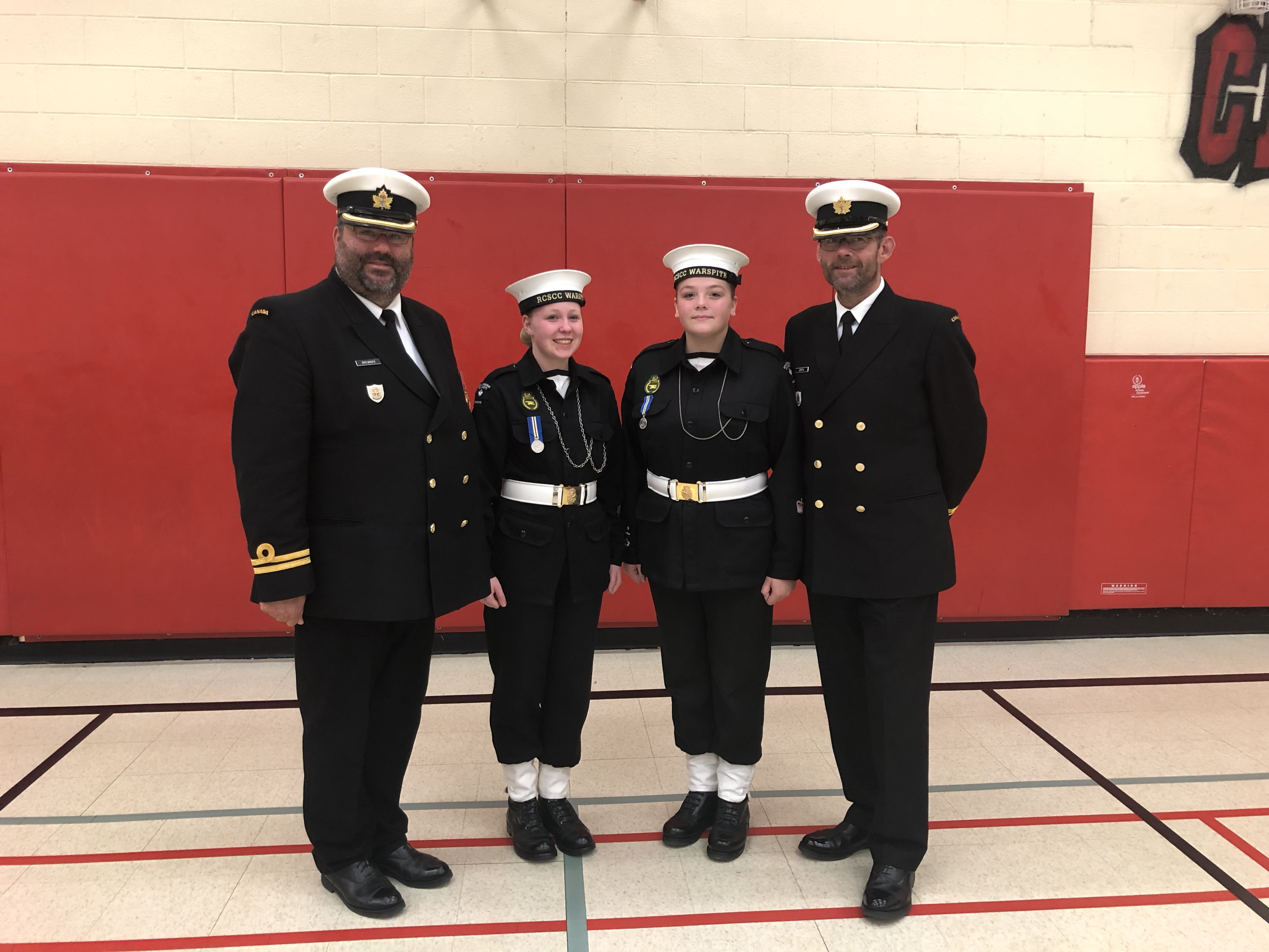 RCSCC Warspite Command Team